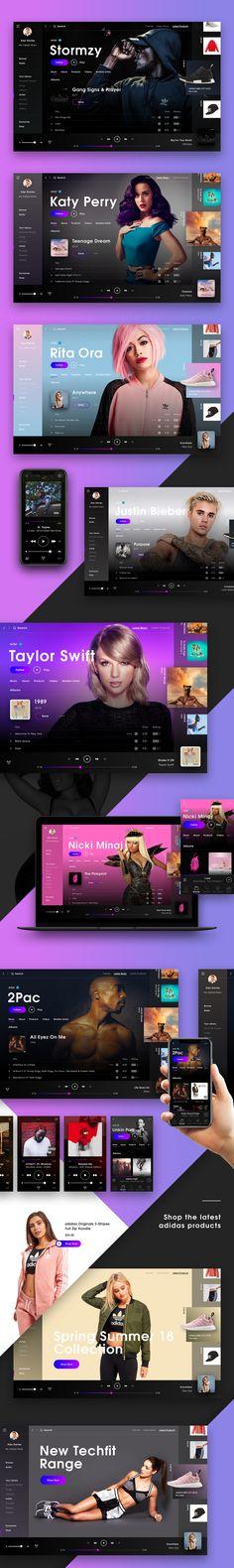 Adidas Music Concept on Behance