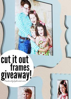Cut it Out frames....cool frames that allow for easy changing of pics to keep your gallery wall fresh!