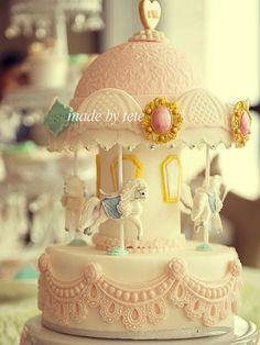 Carousel cake .