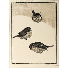 Woodblock print by Walther Klemm (German, Japanese Prints, Japanese Art, Rabbit Art, Lino Cuts, Wood Engraving, Forest Animals, Gravure, Woodblock Print, Letterpress