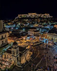 Athens by night, Greece Athens By Night, My Athens, Athens Greece, Athens Hotel, Greece Photography, Travel Photography, Places To Travel, Places To See, Greece Wallpaper