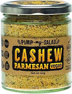 Vegan Parmesan if you rather just prefer it ready-made. My favourite is still the home-made version. Coconut Bacon, Yeast Extract, Nutritional Yeast, Dairy Free, Salad, Homemade, Health, Recipes, Salads