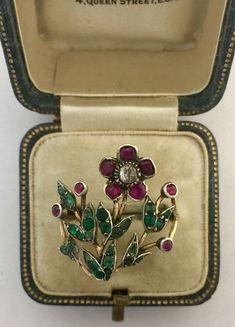 A Stunning Georgian Giardinetti Flower Ring Circa 1800's