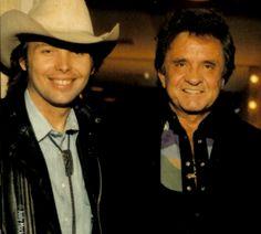 Dwight Yoakam and Johnny Cash.
