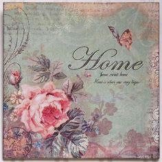 Home Sweet Home Vintage read more at: craftsome.blogspot   láminas   pinterest   tins
