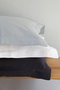 The highest quality pure flax bed linen. Duvet covers, pillowcases, fitted & flat sheets woven from Italian-spun linen at the Mungo Mill in South Africa. Linen Sheets, Linen Bedding, Bed Pillows, Cushions, Linens And Lace, Flat Sheets, Pillow Cases, Handsome, Textiles