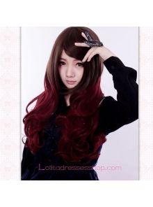 Lolita Gothic Maid Sweet Red Wine Wig