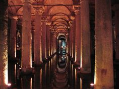 Basilica Cistern(Yerebatan Sarnıcı) is the biggest underground water cistern in Istanbul. Now it is open for visitors and the cistern was used as a set in the James Bond movie ''From Russia With Love''. #yerebatan #underground #cistern #medusa