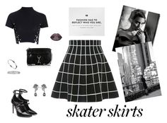 """""""Classy NYC Skatergirl ♥"""" by line96 ❤ liked on Polyvore featuring Tamara Mellon, Alexander McQueen, Cartier, Rebecca Minkoff, Lime Crime, Glamorous and skaterSkirts"""