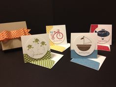 "3""x3"" cards with matching envelopes and box."