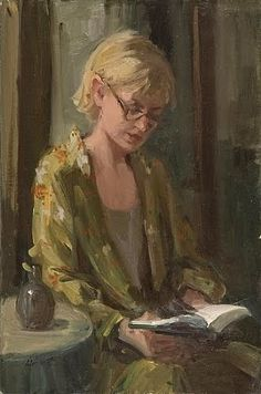 woman reading by Nancy Chaboun