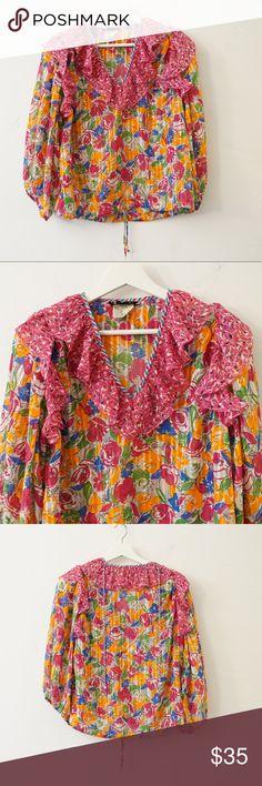 Spotted while shopping on Poshmark: VINTAGE DIANE FRIES BOHO BLOUSE! #poshmark #fashion #shopping #style #Vintage #Tops