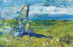 Jack Butler Yeats (1871-1957) An Old Stone In A Field 1952 (22,8 x 35,6 cm) Jack B, Great Paintings, Old Stone, Contemporary Artists, Great Artists, Butler, Irish, Posters, Irish Language