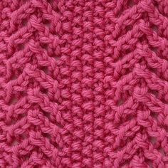 Lace & moss stitch | TheMakingSpot