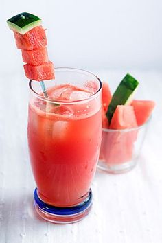 Margarita Recipes-Homemade Recipes-Sandia Fresca Margarita-Combine homemade ginger syrup with fresh watermelon juice for a balanced spicy-and-sweet margarita. Head over to redbookmag.com for more fruit-infused drinks.