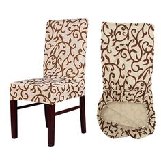 Online Shop Meijuner Flower Printing Removable Chair Cover Big Elastic Slipcover Modern Kitchen Seat Case Stretch Chair Cover For Banquet Banquet Chair Covers, Dining Chair Covers, Furniture Covers, Sofa Covers, Diy Furniture, Kitchen Chair Covers, Seat Covers For Chairs, Furniture Design, Kitchen Furniture