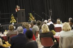 2011 Scholarship Dinner.  Held in the college's arena, meaning lots of space, but poor acoustics.  #donorlove #events