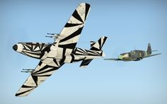 War Thunder skin of Dazzle Camo Mustang Mk.I created by Spogooter