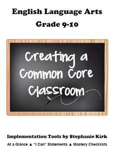 Common Core ELA 9-10 Implementation Bundle! product from Kirks-Corner on TeachersNotebook.com