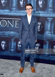Actor Isaac Hempstead Wright attends the premiere of HBO's 'Game Of Thrones'…