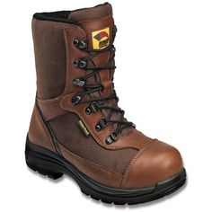 Avenger Safety Footwear Men's 7486 400 Gm Insulated Comp Toe Wp Boot... (9.780 RUB) ❤ liked on Polyvore featuring men's fashion, men's shoes, men's boots, men's work boots, brown, shoes, mens rugged boots, mens work boots, mens short boots and mens brown boots