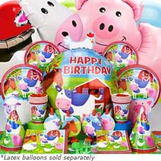 Website with farm themed birthday ideas