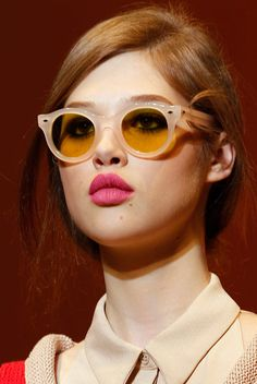 Nude sunglasses at Cacharel.