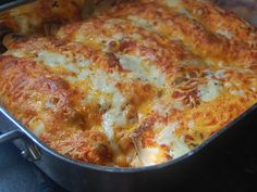 Cream Cheese Enchiladas--recipe looks pretty easy, the pic looks very yummy!