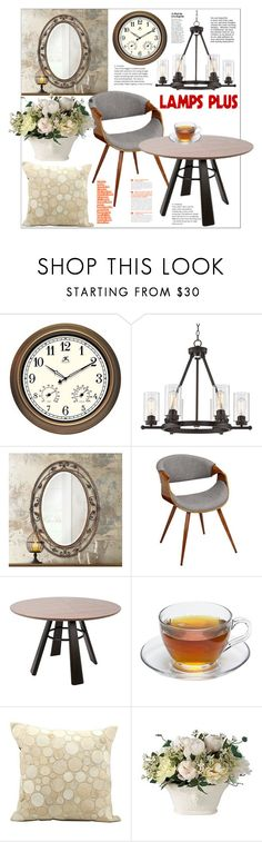 """Dining Room Decor with Lamps Plus"" by natalyapril1976 ❤ liked on Polyvore featuring interior, interiors, interior design, home, home decor, interior decorating, Franklin Iron Works, Nourison and dining room"