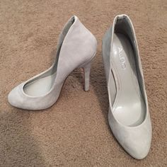 Aldo Nude Suede High heel A suede, nude Aldo high heel pump with protector has never ever been wore. Great pumps for a fun night out, casual jean outfit or comfortable work pump! Comes with protector but I do not have the box for the shoe. ALDO Shoes