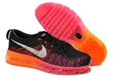 9ece1e62423c Buy Women Nike Flyknit Air Max Flyknit Black Silver Fireberry Hot Lava