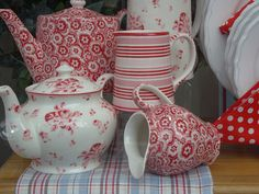 Teapots and Creamers - in the window at Carraig Donn, Westport, Ireland