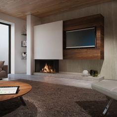 gorgeous living room furniture design very effective to living room remodel Luxury Living Room, Furniture Design Living Room, Room Design, Contemporary Fireplace, Living Room Decor Fireplace, Modern Fireplace, Living Room Design Modern, Living Room Tv Unit Designs, Living Room Tv Wall