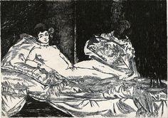 Edouard Manet: Olympia (etching)