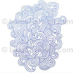 Notebook Doodle Abstract Flowing Waves / Wind Design Elements- Vector Illustration by blue67design by blue67design, via Flickr