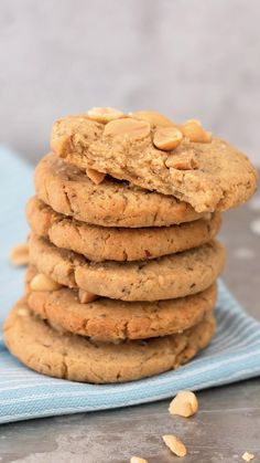 Vegane Peanut-Cookies mit Vanille Even the scent of vanilla can relieve anxiety and anxiety. Italian Cookie Recipes, Easy Cookie Recipes, Healthy Dessert Recipes, Smoothie Recipes, Baking Recipes, Cake Recipes, Chocolate Chip Cookies, Oatmeal Cookies, Peanut Butter Cookies