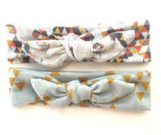 Triangle Modern Tie Knot // Jersey Knit // Baby Girl Headband // Fall // Mint // Mustard // Orange // geometric // Newborn // Infant :TK by jumpingjackjack on Etsy https://www.etsy.com/listing/243920577/triangle-modern-tie-knot-jersey-knit