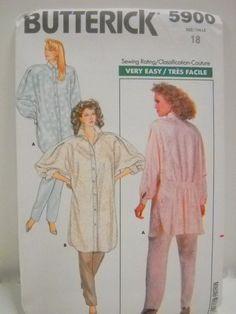 Butterick Pattern 5900 Un Cut Womens Size 18 Shirt & Pants by StitchKnit, $10.00