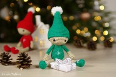 free crochet amigurumi elf pattern, X-mas, Christmas, stuffed toy, #haken, gratis patroon (Engels), Kerstmis, elf, knuffel, speelgoed, haakpatroon