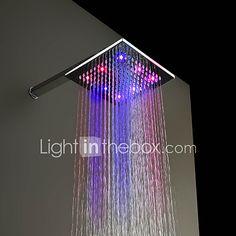 Contemporáneo Ducha lluvia Cromo Característica for  LED / Efecto lluvia , Alcachofa de la ducha 2017 - $52.79