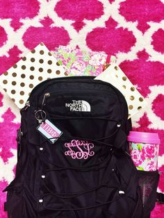Monogram Backpacks and Kate Spade Notebooks and Lilly Pulitzer Mugs. Preppy Girl, Preppy Style, My Style, Preppy Outfits, College Outfits, Preppy Southern, Southern Prep, Southern Shirt, Southern Marsh
