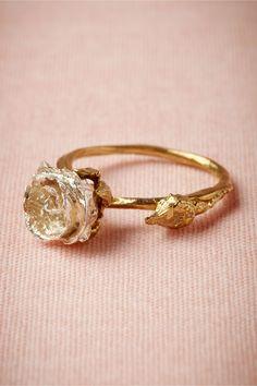 silver bud ring, handmade by benedicte