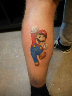 Super Mario Tattoo by Blacksheep Ink