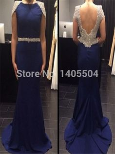 2015 New Sexy Sheath Jewel Floor length Backless Sequin beads Zipper crystals Evening Dress Special Occasion mermaid Party
