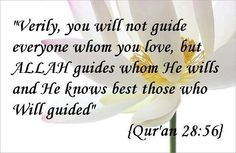 Allah guides whom He wills You were chosen by Allah to be a Muslim Alhamdulillah