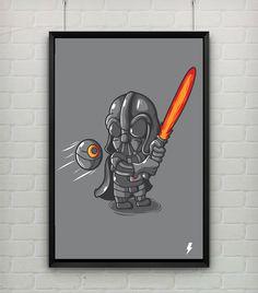 Quadro - Darth Vader - A3 - StormShop - R$ 70