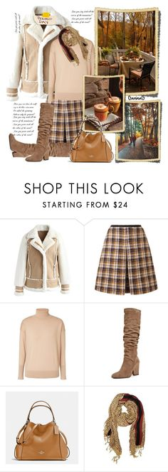 """Autumn mood"" by ganing ❤ liked on Polyvore featuring Chicwish, Orla Kiely, Winser London, Stuart Weitzman, Coffee Shop, Coach, StreetStyle, stylish, moods and polyvoreatitsbest"