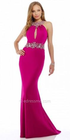 Jeweled Orchid Evening Dress by Nika #edressme