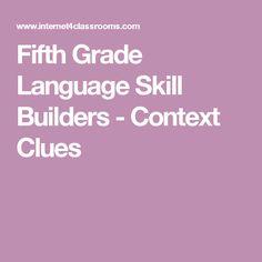 Fifth Grade Language Skill Builders - Context Clues
