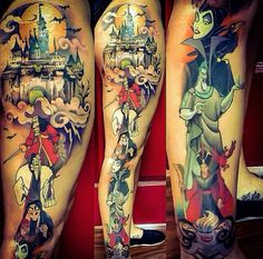 Disney tattoo sleeves on disney tattoo arm best design ideas Disney Sleeve Tattoos, Leg Sleeve Tattoo, 1 Tattoo, Piercing Tattoo, Get A Tattoo, Disney Tattoos For Men, Tattoo Small, Tattoo Quotes, Wolf Tattoos